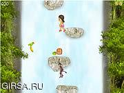 Флеш игра онлайн Прыжки в водопад Джесс