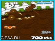 Флеш игра онлайн Ударить моль 3 / Whack a mole 3