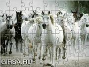 Флеш игра онлайн White Horse Jigsaw