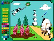Флеш игра онлайн Разукрась овец / Wild Sheep Coloring