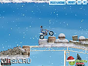 Флеш игра онлайн Winter Bike Stunts