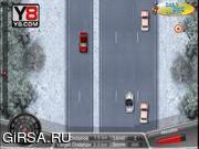Флеш игра онлайн Зимние смертельные гонки / Winter Death Race Game