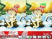 Флеш игра онлайн Зимний Различия / Winter Differences