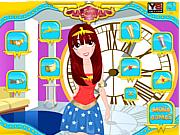 Флеш игра онлайн Макияж для супер-женщины