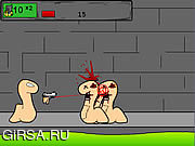 Флеш игра онлайн Червяки 1