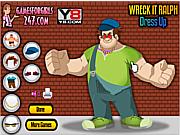 Флеш игра онлайн Наряд для дружелюбного злодея / Wreck It Ralph Dress Up