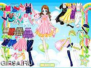 Флеш игра онлайн Воздух Fairy одевает вверх / Air Fairy Dress up