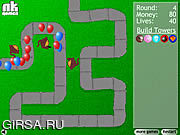 Флеш игра онлайн Bloons Башня Обороны / Bloons Tower Defense
