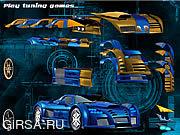 Флеш игра онлайн Голубой автомобиль демона