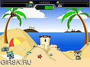 Флеш игра онлайн Кошка против собаки на пляже / Cat vs Dog at the beach