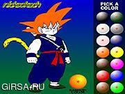 Флеш игра онлайн Dragon Ball Z Painting
