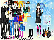 Флеш игра онлайн Способ Emo девушки / Girl Emo Fashion