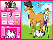Флеш игра онлайн Horseland Dress up