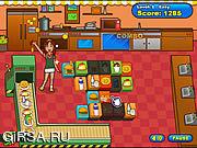 Флеш игра онлайн Бургер Mahjong