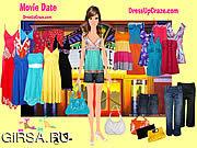 Флеш игра онлайн Дата Dressup кино / Movie Date Dressup