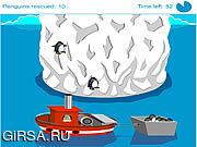 Флеш игра онлайн Паника пингвина