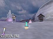 Флеш игра онлайн Санки Баш
