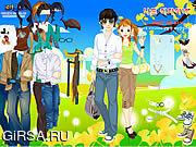 Флеш игра онлайн Пары весны одевают вверх
