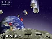 Флеш игра онлайн Зебра космоса / The Space Zebra