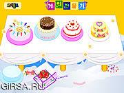 Флеш игра онлайн Wedding Cake Decoration