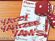 Флеш игра онлайн Кости Ятцы Ямс / Yatzy Yahtzee Yams