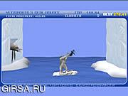 Флеш игра онлайн Yeti резвится (часть 3) - прыжок уплотнения / Yeti Sports (Part 3) - Seal Bounce