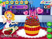 Флеш игра онлайн Zizi Princess Cake Decor