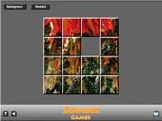 Флеш игра онлайн Zombie Game Sliding
