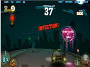 Флеш игра онлайн Зомби-гонки / Zombie Race V1