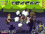 Флеш игра онлайн Зомбипрепятствия / Zombiewest